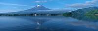 Mount Fuji and Lake, Fujikawaguchiko, Minamitsuru, Yamanashi, Japan