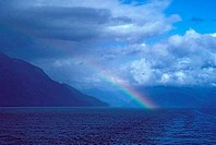 SOUTHERN CHILE, CHILEAN FJORDS, WITH RAINBOW