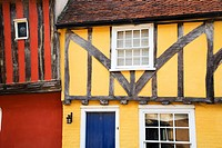 Colourful Half Timbered Buildings Nayland Suffolk England