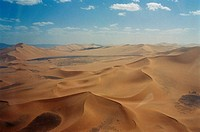 Algeria, the Sahara desert the Big West Erg, aerial view