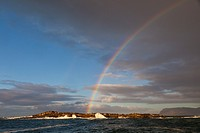 Rainbow over Seal Island, False Bay, South Africa