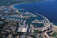 France, aerial view of Port Grimaud