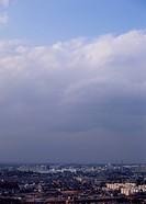 Cirocumulus and cumulus clouds