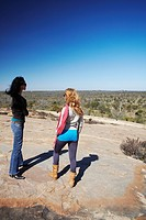 Women at viewpoint in Kruger National Park, Mpumalanga, South Africa MR