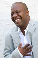 Young man smiling,portrait