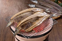Char grilled saury