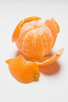 Peeled clementine