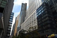 Apartment and office buildings in Midtown Manhattan.  New York, New York. USA.