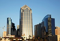 Modern buildings on the waterfront in San Diego, California, USA