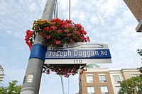 Street sign in The Beaches neighbourhood. Toronto, Ontario, Canada