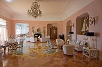 Campania, Ischia, Lacco Ameno, Hotel Regina Isabella, the living room