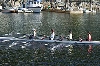 Rowing at Deep Cove North Vancouver BC Canada