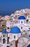 Cyclades, Greece, Santorini, Village D´Oia, church