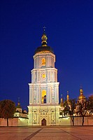 Ukraine, Kiev, Saint Sophia Cathedral at night