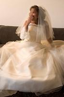 Bride yawning