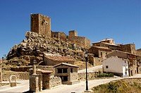 Castle Puertomingalvo, Teruel, Aragon, Spain