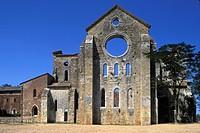 Italy, Tuscany, San Galgano Abbey.