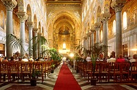 Italy, Sicily,Monreale,interiors of the Cathedral of Monreale