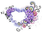 Heart shape with flora design (thumbnail)