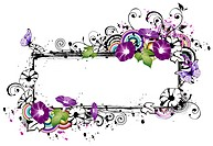 Rectangular frame with morning glory flower (thumbnail)