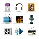 Electronic equipment icon set