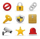 Security and safety icon set (thumbnail)