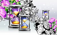 Hourglass with flora design (thumbnail)