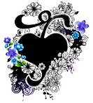 Heart shape with flora design