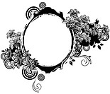 Oval Shape with flora design (thumbnail)