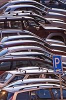 CZECH REPUBLIC PRAGUE. PARKED CARS.