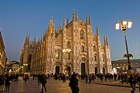 Italy, Lombardy, Milan, the Duomo at dusk