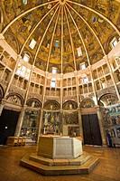 Italy, Emilia Romagna, Parma. Interior of the baptistry