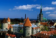 Estonia, Tallinn, Tower Town Walls