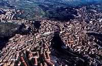 Italy, Umbria, Perugia, aerial view