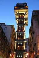 elevador de santa justa, lisbona, portogallo