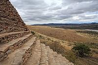 Ruins of Chicomostoc, circa 300_1200, La Quemada, state Zcatecas, Mexico