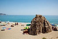 Burriana beach, Nerja, Málaga province, Andalusia, Spain
