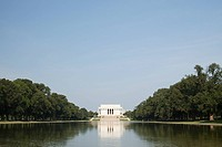 Lincoln memorial and reflecting pool, Washington DC, USA