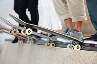 Skaters and their boards