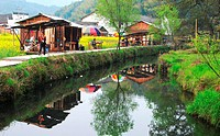 Traditional Hui style homes, Wuyuan, Jiangxi Province, China