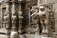 The Kailasanatha temple was built by the Pallavas in the early 8th century CE in Kanchipuram, Tamil Nadu, India