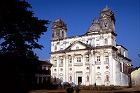 Church of St  Cajetan, Old Goa, India. The St Cajetan church was built by Italian friars of the order of Theatines, who were sent by Pope Urban VIII t...