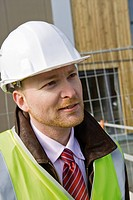 Building contractor, portrait