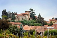 Old Italian castle on a hill