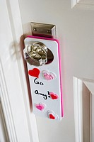 Door Hanger on Girl´s Bedroom Door