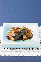 Roasted mackerel with sauce
