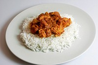 Biryani Masala chicken with basmati rice
