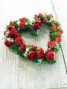 Flowers in heart form