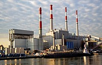 USA, New York State, New York City, Power station