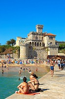 Estoril, Forte da Cruz, Tamariz beach, Lisbon coast, Portugal, Europe.